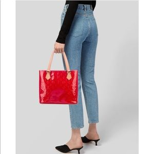 Louis Vuitton Monogram Red Vernis Houston Tote